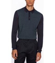 boss men's massimo polo-collar sweater