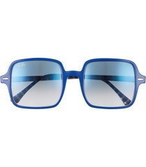 ray-ban 53mm square sunglasses in blue/blue gradient at nordstrom