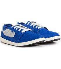 zapatilla azul vuela alto skate tigers va limited
