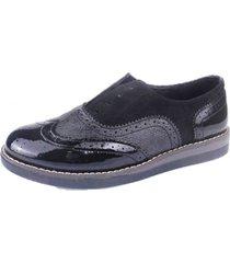 zapato oxford trufa negro chalada