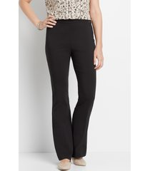 maurices womens ultra high rise black bengaline flare pants