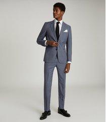 reiss friuli - wool blend slim fit blazer in dusty blue, mens, size 38
