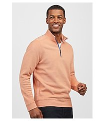 1905 collection tailored fit quarter zip mock neck men's sweater - big & tall