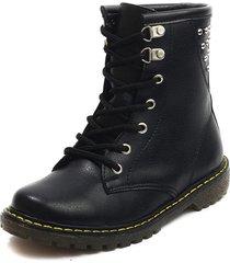 botas negro blanco perla bt-676