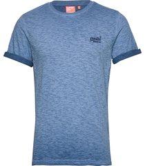 ol low roller tee t-shirts short-sleeved blå superdry