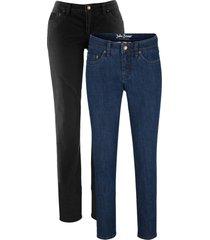 jeans elasticizzati cropped skinny  (pacco da 2) (blu) - john baner jeanswear