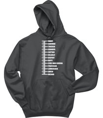 beard length ruler chart funny redneck shirt hoodie