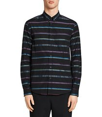 casual-fit stripe cotton shirt