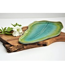 patera ceramiczna talerz dekoracyjny liść