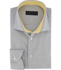 grijs geprint overhemd john miller tailored fit