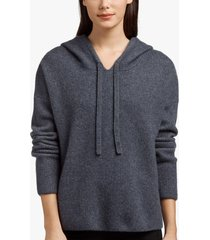 cashmere silk cropped hoodie
