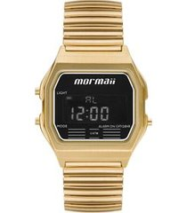 relógio mormaii unissex vintage preto mojh02au/4d mojh02au/4d