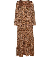elvira leo maxi dress galajurk bruin line of oslo