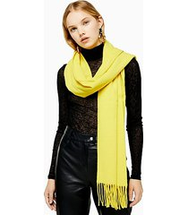 considered yellow super soft scarf with recycled polyester - yellow