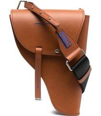 ader error western style shoulder bag - brown