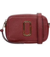 marc jacobs shoulder bag in bordeaux leather
