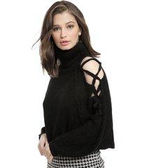 sweater nrg negro - calce oversize