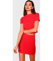 sweater glamorous rojo - calce ajustado