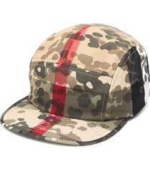 burberry camouflage print baseball cap - green