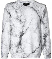 bluza męska marmur biała