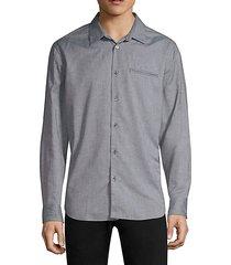 marled button-down shirt