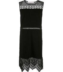 carolina herrera crocheted dress - black