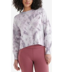 lucky brand tie-dyed open-back cotton sweater