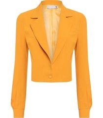 casaqueto feminino crepe - amarelo