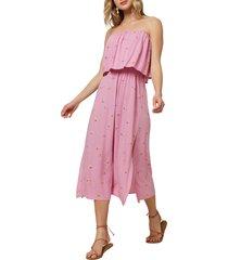 women's o'neill koia strapless popover midi dress