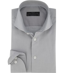 grijs overhemd john miller tailored fit