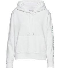 degrade logo relaxed hoodie vit calvin klein jeans