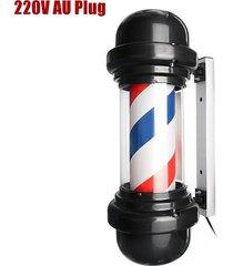 50cm led de poste del peluquero sesión giratoria hair salon rojo blanco azul diseño raya - el reglamento australiano 220v