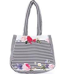 lapin house bolsa tiracolo com detalhe floral - branco