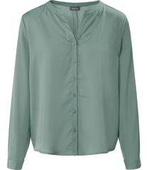 blouse in iets langer model met lange mouwen van basler groen