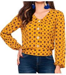 blusa jill amarillo croydon