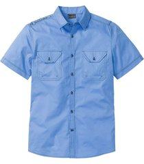 camicia a manica corta slim fit (blu) - rainbow