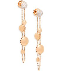 18k rose gold & diamond linear earrings