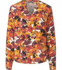 blouse met lange mouwen en ronde hals van mybc multicolour