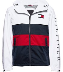 colourblock hooded jacket tunn jacka vit tommy hilfiger