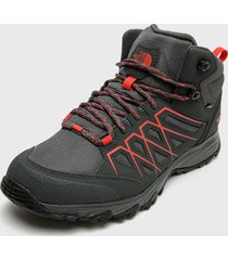 zapatilla outdoor m venture fasthike mid gtx gris the north face