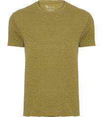 t-shirt masculina algodão pima manga curta gola redonda regular fit acabamento a fio - verde