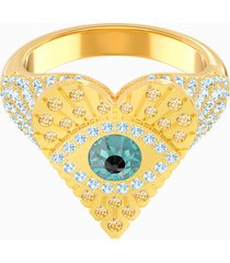 anello con motivo lucky goddess heart, multicolore, placcato oro