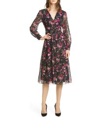 women's ted baker london adriela fern forest long sleeve dress