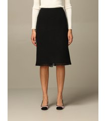 alberta ferretti skirt alberta ferretti bouclé cotton blend skirt