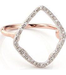 rose gold riva hoop cocktail ring diamond