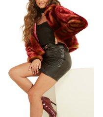 guess vonna faux-fur jacket