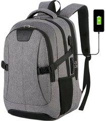 mochila de carga usb multifuncional para hombre