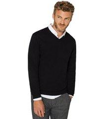 sweater cuello en v negro esprit