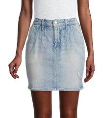 the double dart denim mini skirt
