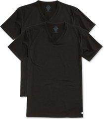 calvin klein men's stretch cotton v-neck undershirt 2-pack